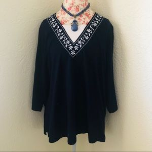 Navy Blue Cathy Daniels Blouse